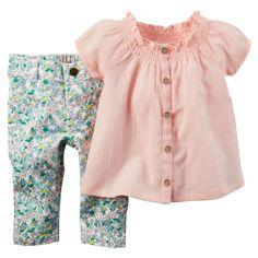 Ensemble 2 pièces haut et pantalon pour bébés filles   Carter's OshKosh Canada