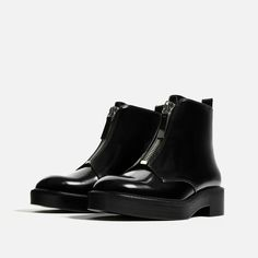 FLAT ANKLE BOOTS WITH ZIP from Zara