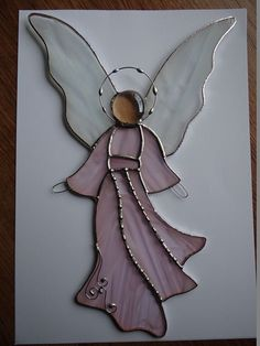 Angel Stained Glass Suncatcher Tiffany Style Big by ArtesanaPL