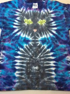 Kids t-shirt black cat by Zan Ink Custom Tie Dye of Alaska