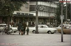 1971. View of Tussenmeer in Osdorp, Amsterdam Nieuw-West with a branch of supermarket Dirk van der Broek. Tussenmeer is the main street in the borough Osdorp. The street runs from the Osdorpplein to the Dijkgraafplein. Tussenmeer is named after a former farmhouse at the Uitweg near the Sloterdijkermeerpolder. This farmhouse was demolished in the 1950's. #amsterdam #1971 #Tussenmeer