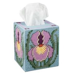 Craftways® Iris's Tissue Box Cover Plastic Canvas Kit Was: $16.00                     Now: $12.99