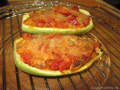 Calabacines rellenos con verduras - La Alacena de MO