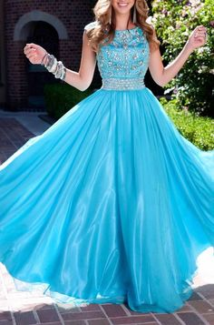 Blue prom dress, party dress