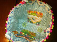 Inside Junk bag tote.  PDF download sewing pattern  www.jackieclarkdesigns.com