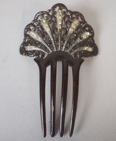 GLamour gift for her Antique DECO Hat Pin Celluloid and Rhinestone