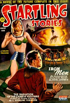 Startling Stories Jan 1945: Iron Men, Cover art by Earle Bergey