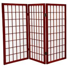 Red Lantern Rosewood Paper Folding Indoor Privacy Screen at Lowe's. A traditional Japanese design adapted for the modern home, this three foot tall Window Pane Shoji Screen provides privacy without blocking light.
