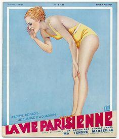 Georges Léonnec (1881 – 1940). La Vie Parisienne, 1934. [Pinned 20-i-2015]