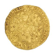 Gold florin georges of Philip VI, France, 1322 - French Coins, Gold And Silver Coins, Roman Empire, Yard Art, Things To Come, Bowling Ball, France, My Love, Blessed