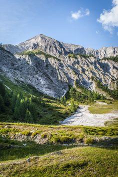 wunderschöner Wanderweg auf die Ursprungalm in der Obersteiermark Mount Rainier, Mountains, Nature, Travel, Beautiful Places, Hiking, Nice Asses, Naturaleza, Viajes