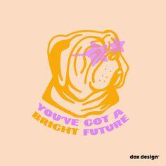 Retro Illustration, Business Illustration, Digital Illustration, Logo Sticker, Sticker Design, Pet Pet, Kids Logo, Retro Futurism, Dog Quotes