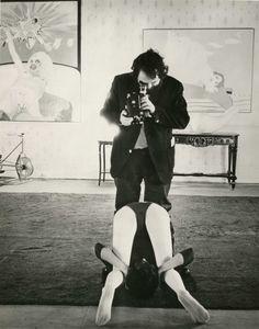 """ Stanley Kubrick filming A Clockwork Orange (1971) """