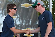 Caption this photo of Jeff Gordon and Dale Earnhardt Jr. Winner will be announced on Oct. 1.