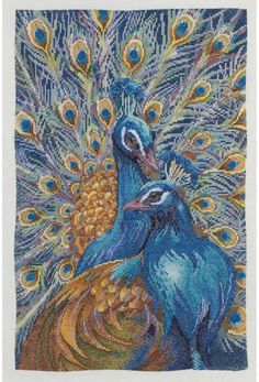 Bucilla You Are Unforgettable (Peacock) - Cross Stitch Kit. Kit includes 28 Ct. Ivory evenweave fabric, DMC cotton embroidery floss, color-coded thread sorter,