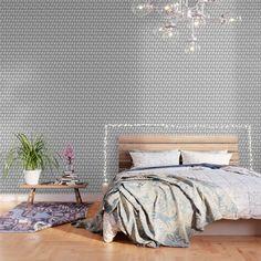 White Pattern Wallpaper, Wallpaper Design For Bedroom, Blush Wallpaper, Waves Wallpaper, White Wallpaper, Peel And Stick Wallpaper, Wallpaper Patterns, Wallpaper Designs, Print Wallpaper