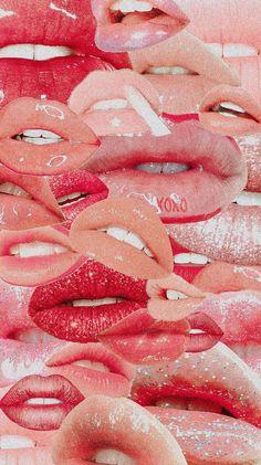 Lips VSCO Aesthetic Collage Wallpaper