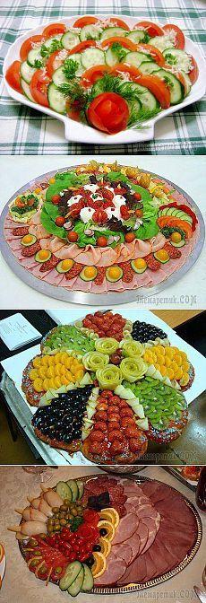 30 Ideas For Meat Platter Presentation Veggie Tray Veggie Platters, Meat Platter, Veggie Tray, Food Platters, Appetizer Recipes, Salad Recipes, Veggie Display, Food Carving, Food Garnishes