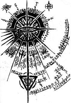 Arcane Seal of the Divine Gaze by MirageNight on DeviantArt Simbolos Tattoo, Occult Tattoo, Norse Tattoo, Viking Tattoos, Chest Tattoo, Back Tattoo, Body Art Tattoos, Tattoo Drawings, Sleeve Tattoos