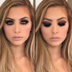 Love this dramatic look with intense smokey eyes and nude lips! Make up by Vanity Makeup. Tag your friend who would love… Makeup Goals, Makeup Tips, Beauty Makeup, Hair Beauty, Makeup Ideas, Makeup Tutorials, Beauty Vanity, Makeup Trends, Makeup Art