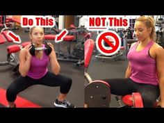 """Use your time more efficiently at the gym by doing exercises that work more muscles at the same time. This woman shows what exercises to do in replace of others for better results. From """"Lean Secrets"""" on youtube"""