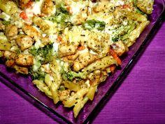 Zapiekanka makaronowa z kurczakiem i warzywami!