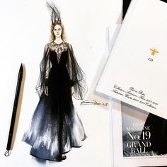 Very nice art of #fashiondrawing #dress #sketches #fashiondesign #artwork #aquarelle #fashionsketch