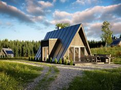 Affordable A-frame house can be built by just two people - Curbed