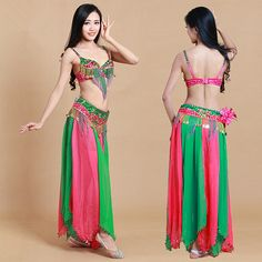Aliexpress.com : Buy (2get 5% off)Adult beaded green/red/pink belly dance…