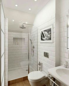 Bathroom Decor tiles * wunderkammer *: Metro Fliesen im Badezimmer /// Azulejos de metro en el bao /// Subway tiles in the bathroom Small Bathroom, Bathroom Renovation, Shower Room, Bathroom Inspiration, Ensuite Bathroom, Bathrooms Remodel, Bathroom Makeover, House, Tile Bathroom