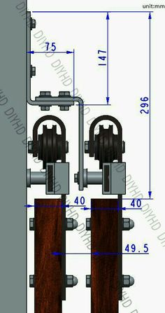 We are professional manufacture of sliding barn door hardware, has over 30 shape styles hanger and track sizes to meet your different needs. Strict quality control and advanced technology makes CCJH Sliding Barn Door Hardware Wood Closet Doors, Barn Door Closet, Rustic Closet, Modern Closet, Barn Door Track, Double Sliding Barn Doors, Sliding Barn Door Hardware, Diy Sliding Door, Gate Hardware