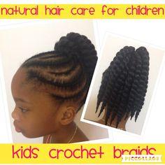 Crochet Braids for Kids follow me on Facebook @ fb.com/ChildrensHair #crochetbraids #braids #twists