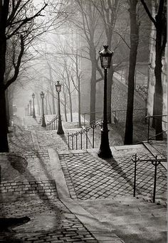 FRANCE  PARIS,Montmart 1936  and a DARKNESS APPROACHES ! by forpawsgrooming, via Flickr