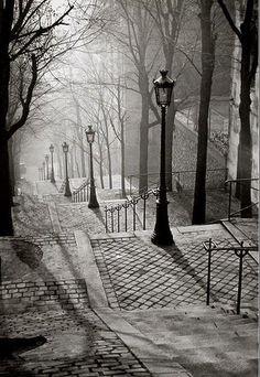 Montmartre, Paris, France 1936 - and war is just around the corner...