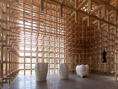 Sistema Cidori: Museo y Centro de Investigación GC Prostho. Kengo Kuma #architecture