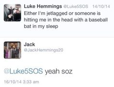 Luke and Jack Twitter conversation