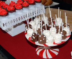 xmas marshmello cupcakes  | The next plate is one that I received as a gift the year before. The ...