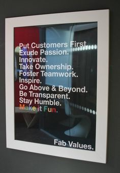 FAB corporate values