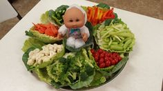 Love The Veggie Tray.... Maybe Put The Dip In The Middle If · Baby Shower  ...