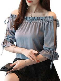 40 Magnificent Ideas Summer Work Outfits for Women - Cimonds Blouse Styles, Blouse Designs, Sleeves Designs For Dresses, Vetement Fashion, Stylish Tops, Ladies Dress Design, Women's Fashion Dresses, Maxi Dresses, Types Of Sleeves