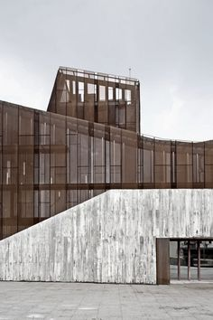 rusted mesh facade--aq4 arquitectura