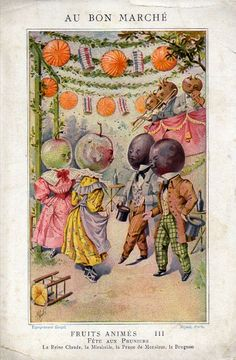 Au Bon Marché - Fruits animés - III