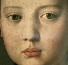 c.1550.Agnolo Bronzino (1503-72) Portrait of Maria, daughter of Cosimo I de Medici Detail of an Italian painting of a Renaissance Girl