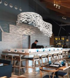 Access to find the best furniture inspirations for your new home decor project! Luxury and still modern interior design ideas! Restaurant Design, Deco Restaurant, Design Hotel, Western Restaurant, Restaurant Lighting, Restaurant Kitchen, Chinese Restaurant, Bar Design Awards, Commercial Design