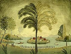 Rufus Porter murals...my very favorite.  Traveled throughout New England in the early to mid-1800's painting murals in homes and taverns.