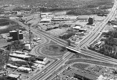 Old Tyson's Corner.looking down on where Rt 123 crosses over top of Rt 7 Old Pictures, Old Photos, Vintage Photos, Fairfax County, Falls Church, Historical Sites, Crosses, Vienna, Childhood Memories