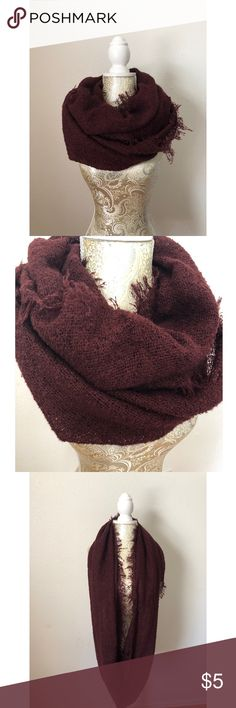 Infinity Scarf Infinity scarf, tweed or burlap material, but it is not itchy at all. Where it wrapped around twice for a cute and cozy look. Forever 21 Accessories Scarves & Wraps