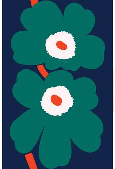 Unikko Anniversary HW sateen fabric by Marimekko I'm overwhelmed. I love Marimekko ! Marimekko Wallpaper, Marimekko Fabric, Textures Patterns, Fabric Patterns, Print Patterns, Dark Blue Green, Green And Orange, Illustration Photo, Illustrations