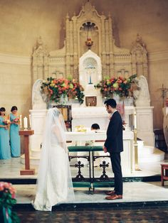 Shannon Leahy Events - Carnival Inspired Wedding - San Rafael - Groom - Bride - Ceremony - Church