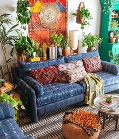 blue sofa - the jungalow